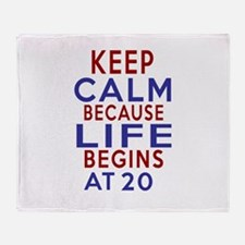 Life Begins At 20 Throw Blanket