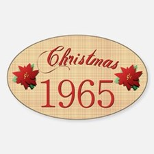 1965 Scrapbooking Christmas Oval Decal
