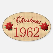 1962 Scrapbooking Christmas Oval Decal