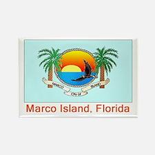 Marco Island FL Flag Rectangle Magnet (10 pack)