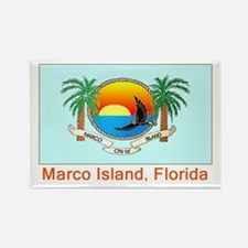Marco Island FL Flag Rectangle Magnet