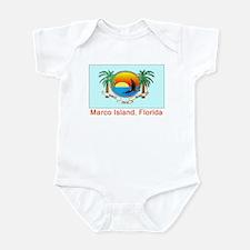 Marco Island FL Flag Infant Bodysuit