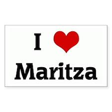 I Love Maritza Rectangle Decal