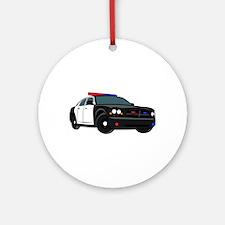 Police Car Round Ornament
