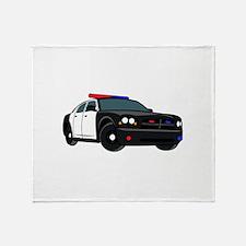 Police Car Throw Blanket