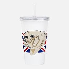 English Bulldog Acrylic Double-wall Tumbler