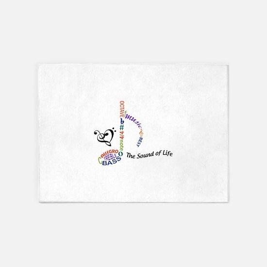 The Sound Of Llife 5'x7'Area Rug