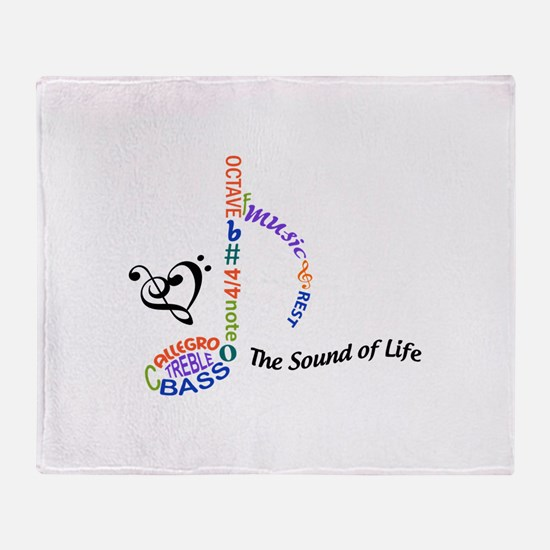 The Sound Of Llife Throw Blanket