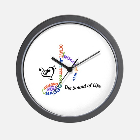 The Sound Of Llife Wall Clock