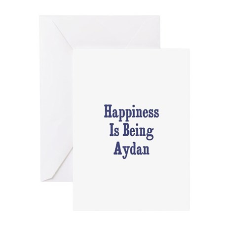 Happiness is being Aydan Greeting Cards (Pk of 10)