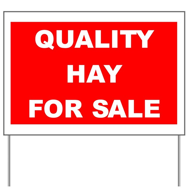 hay for sale yard sign by haysign. Black Bedroom Furniture Sets. Home Design Ideas