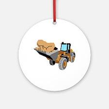 Rock Dozer Round Ornament