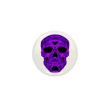 Purple Skull Mini Button (10 pack)