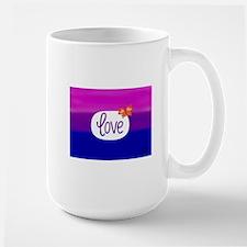 Bisexual flag love art Mugs