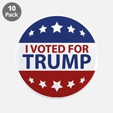 """I Voted For Trump 3.5"""" Button (10 pack)"""