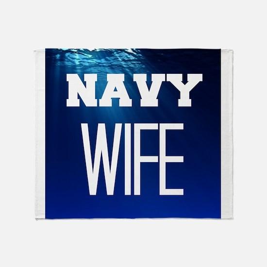 Navy Wife Throw Blanket