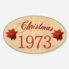1973 Scrapbooking Christmas Oval Decal