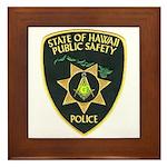 Hawaii Police Mason Framed Tile