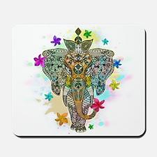 Elephant Zentangle Doodle Art Mousepad
