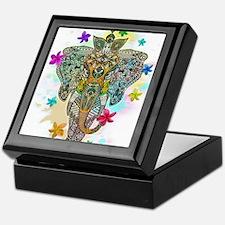 Elephant Zentangle Doodle Art Keepsake Box