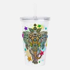 Elephant Zentangle Doodle Art Acrylic Double-wall