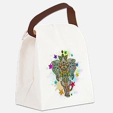 Elephant Zentangle Doodle Art Canvas Lunch Bag