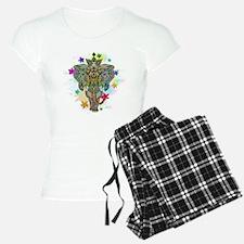 Elephant Zentangle Doodle Art pajamas