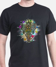 Elephant Zentangle Doodle Art T-Shirt