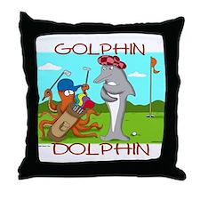 Golphin Dolphin Throw Pillow