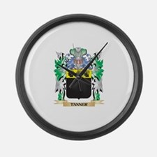 Tanner Coat of Arms - Family Cres Large Wall Clock