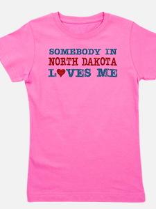 Cute State north dakota Girl's Tee