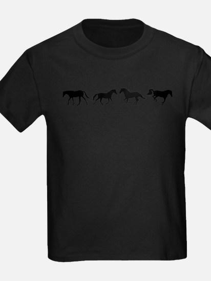WalkTrotGallopBuck row black T-Shirt