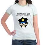 Walk Toward the Moustache Jr. Ringer T-Shirt