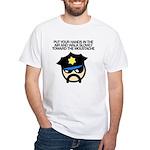Walk Toward the Moustache White T-Shirt