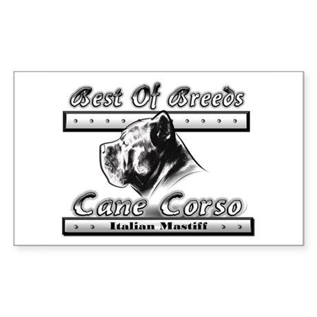 Cane Corso BW Rectangle Sticker