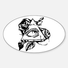 triangle all seeing eye Decal