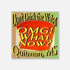 Don't Drink the Water Quitman, MS Sticker