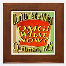 Don't Drink the Water Quitman, MS Framed Tile