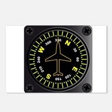 Aircraft Compass Postcards (Package of 8)
