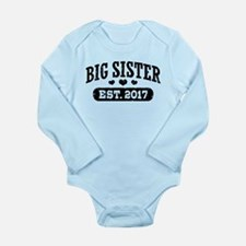 Big Sister Est. 2017 Long Sleeve Infant Bodysuit