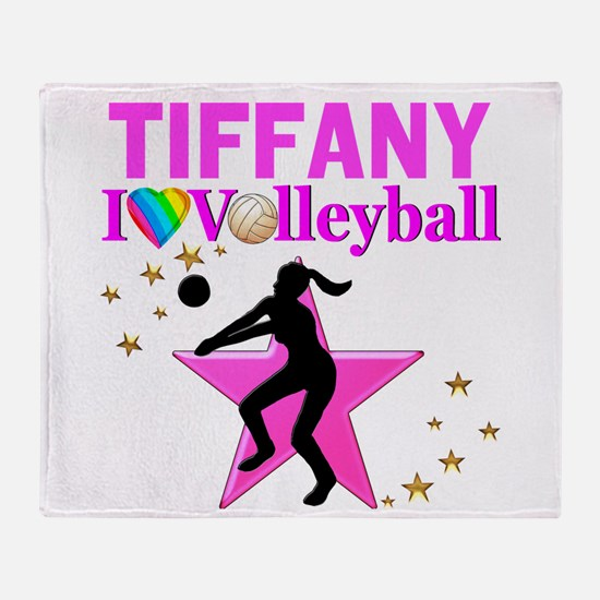 CUSTOM VOLLEYBALL Throw Blanket