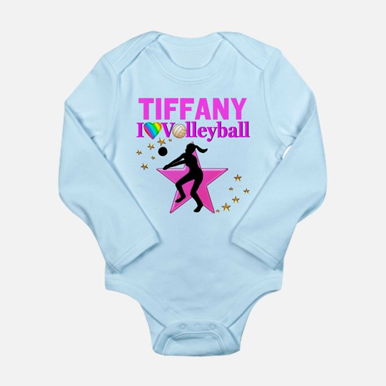 CUSTOM VOLLEYBALL Long Sleeve Infant Bodysuit