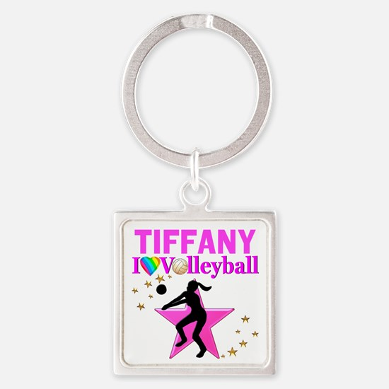 CUSTOM VOLLEYBALL Square Keychain