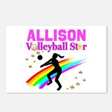 CUSTOM VOLLEYBALL Postcards (Package of 8)