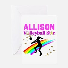 CUSTOM VOLLEYBALL Greeting Card