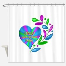 Bingo Happy Heart Shower Curtain