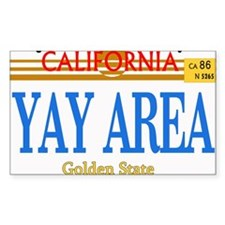 YAY AREA -- LINCENSE Rectangle Decal