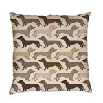 Dacshund Bedding Everyday Pillow