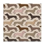 Dacshund Bedding Tile Coaster