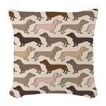 Dacshund Bedding Woven Throw Pillow